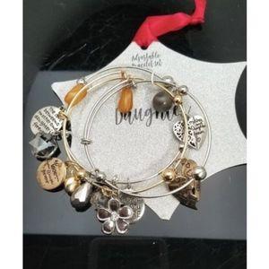 Dangle Charm Bracelet Gold Silver Daughter